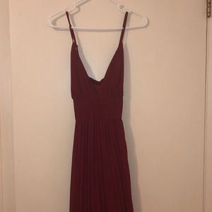 Lulu Crimson Evening Gown